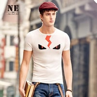 Summer Men's Fashion England Style Stylish Round-neck Short Sleeve Print T-shirts [7951209731]