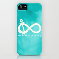Anchored Forever Blue iPhone Case by TheLeb | Society6