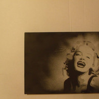 Marilyn Monroe Spray Paint Portrait- 16 by12 inch
