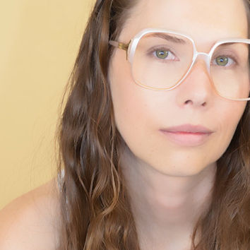 Tura Pink Pearl Oversized Eyeglasses Large Frames  NOS Free Priority Shipping