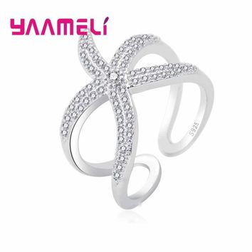 YAAMELI Fashionable Perfect Girlfriend Gift Open Rings with Octopus Design 925 Sterling Silver Fashion Jewelry  Ring for Women