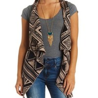Cascade Aztec Sweater Vest by Charlotte Russe - Ivory Combo