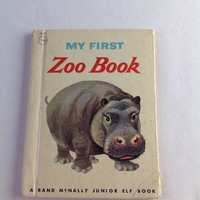Vintage My First Zoo Book Rand McNally Junior Elf Book 1952