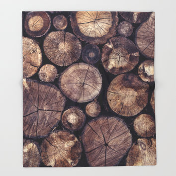 The Wood Holds Many Spirits // You Can Ask Them Now Edit Throw Blanket by Tordis Kayma | Society6