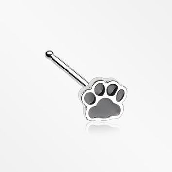 Adorable Paw Print Nose Stud Ring