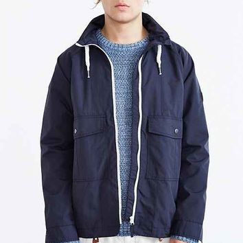 Native Youth Zip Collar Rain Coat- Navy