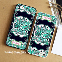 Sea Art On Sheel-Lilly Pulitzer iPhone Case Cover for iPhone 6 6 Plus 5s 5 5c 4s 4 Case