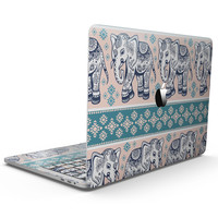 Walking Sacred Elephant Pattern V2 - MacBook Pro with Touch Bar Skin Kit