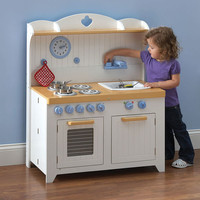 The Young Chef's Foldaway Kitchen Playset - Hammacher Schlemmer
