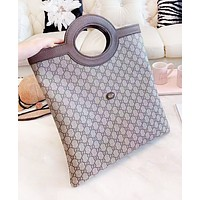 GUCCI Fashion New More Letter Print Leather Shopping Leisure Women Men Handbag Shoulder Bag