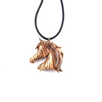 Horse Necklace, Horse Jewelry, Wooden Pendant, Horse Pendant, Wooden Horse Pendant, Wood Jewelry, Hand Carved Horse Pendant, Cowboy Jewelry