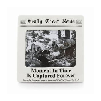 Really Great News Moment in Time Photo Frame - Perfect Grandparents Gift