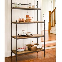 Rustic Wood Baker's Rack with Metal Frame | Kitchen & Dining Furniture