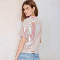 Iridescent Sequined T-shirt