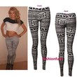 WOMEN LADIES ANIMAL ZEBRA AZTEC TRIBAL PRINT FULL LENGTH LEGGINGS SIZE 8-14