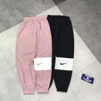"""Nike"" Unisex Sport Casual Vintage Multicolor Print Loose Sweatpants Couple Leisure Pants Trousers"