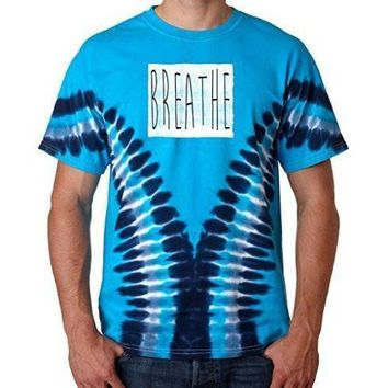 "Yoga Clothing for You Mens ""Breathe"" V-Dye Tee Shirt"