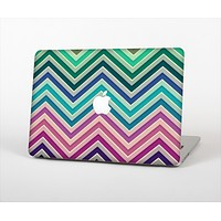 The Vibrant Colored Chevron Layered V4 Skin Set for the Apple MacBook Pro 15""