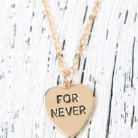 LA Hearts For Never Heart Necklace at PacSun.com