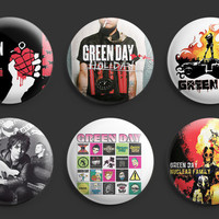 Green Day Pinback Buttons Badges #1 6pcs 1.25 inches Punk Band New