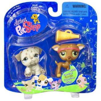 Littlest Pet Shop Pet Pairs Greyhound & Bulldog