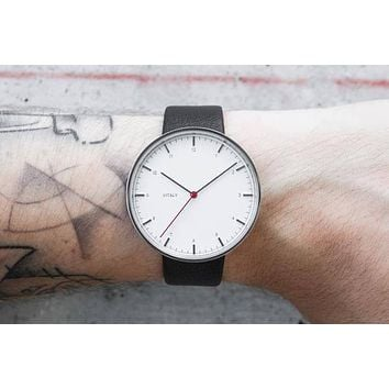 Vitaly Basel x Stainless Steel (Leather) Watch