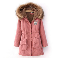 Women Winter Thickening Warm Fur Jackets Coat Suede Parka Wool Hoodies