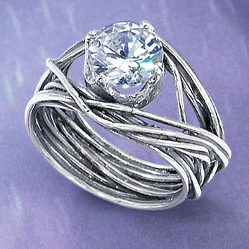 CZ Partner Ring                                    - New Age & Spiritual Gifts at Pyramid Collection