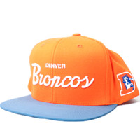 Denver Broncos Script 3M Reflective Bill Snapback Hat (Orange/Blue)