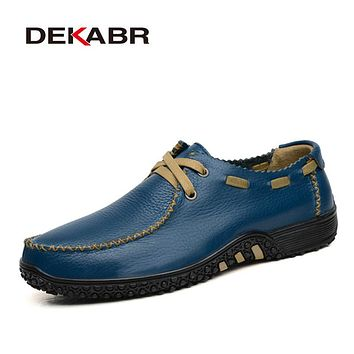 Men Shoes Fashion Style Loafer High Quality Genuine Leather Flat Soft Loafer For Male Shoe