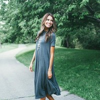 the Buttercup Maxi Dress - Grey