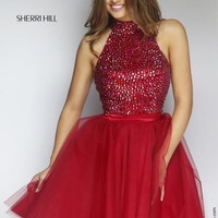 Sherri Hill Short Dress 11306 at Prom Dress Shop