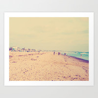 Santa Monica Beach Art Print by SoCalPhotography