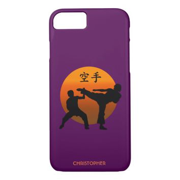Two Karate Fighters With Rising Sun iPhone 7 Case