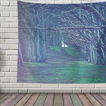 Forest Path Tapestry Boho Wall Tapestry Hippy  Wall Hanging