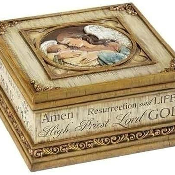 2 Keepsake Boxes - Baby Jesus And Angel