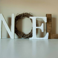 Christmas Decor, Noel Letters, Mantle Decor