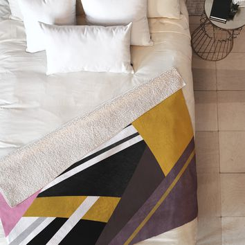 Elisabeth Fredriksson Geometric Combination 1 Fleece Throw Blanket
