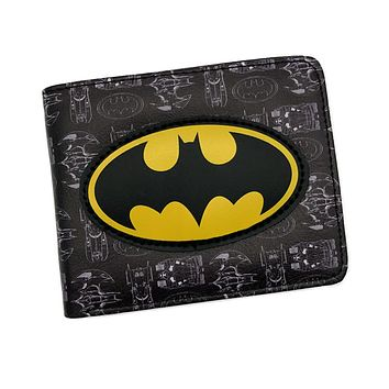 2017 New Arrival Anime Comics Wallet Batman /Joker /Harley Quinn Purse Men's Wallet bolsos mujer