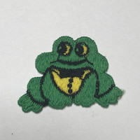 Frog Vintage Patch Embroidered Iron-on Vintage Clothing Patch Jacket Patch Vest Patch