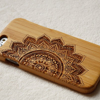 Flower wood iPhone 6s case for iphone 6 6 plus wood case for iphone 5 5s case iPhone 5C wood case wooden galaxy s6 s5 case note5  wood case