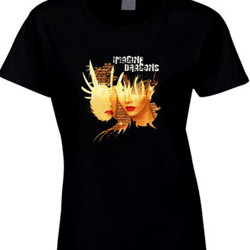 Imagine Dragons Poster Face Womens T Shirt