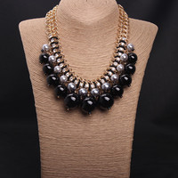 Big Faux Pearl Necklace
