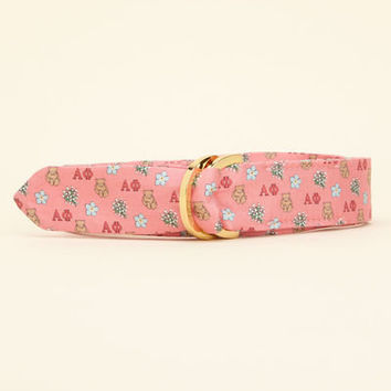 Sorority Collection: Alpha Phi D-Ring Belt for Women - Vineyard Vines