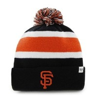 "San Francisco Giants Black ""Breakaway"" Beanie Hat with Pom - MLB SF Cuffed Winter Knit Toque Cap"