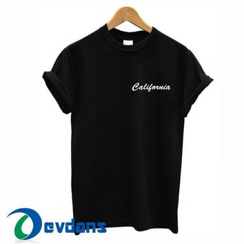 California T Shirt For Women and Men Size S- 3XL