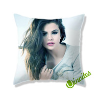 Selena Gomez Square Pillow Cover