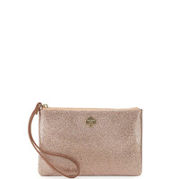 glitter bug wristlet clutch bag, rose gold - kate spade new york