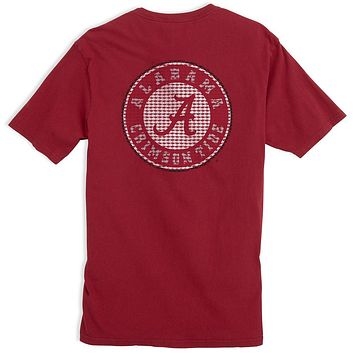 University of Alabama Skipjack Fill T-Shirt in Crimson by Southern Tide