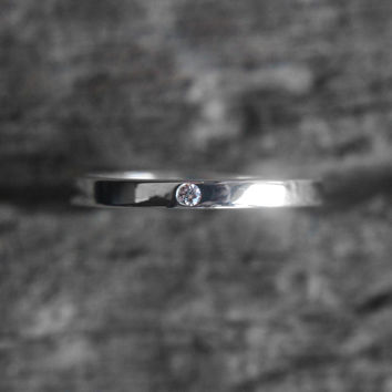 Aaren - Single stone - Stacking, Family, or Wedding band - Customizable